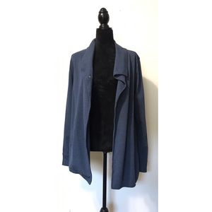 Kensie Blue Wrap & Snap Cardigan Sweater M